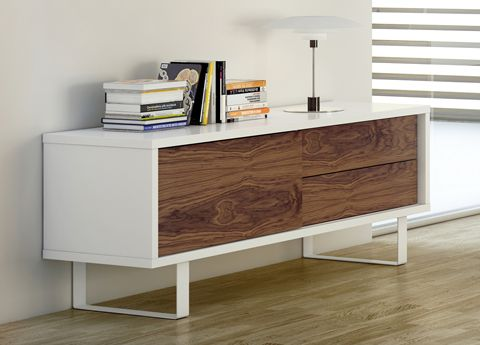 Acacia TV Unit/Low Sideboard - use it as either! Lovely walnut door and drawer fronts in this version (but it comes in all white or light grey versions too!)  £530