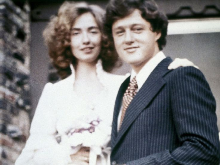 PHOTO: Bill and Hillary Clinton pose for a photo on their wedding day, Oct. 11, 1975, in Fayetteville, Ark..