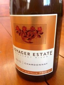 """The Wine Punter on the Voyager Estate 2010 Chardonnay - """"It's a comfortable balance of typical chardonnay fruit characters with some up-front lemon acidity to add razzle dazzle."""""""