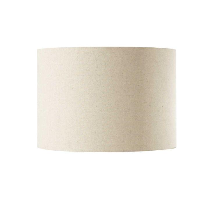 Lampada a sospensione beige in cotone D 50 cm TAMBOUR