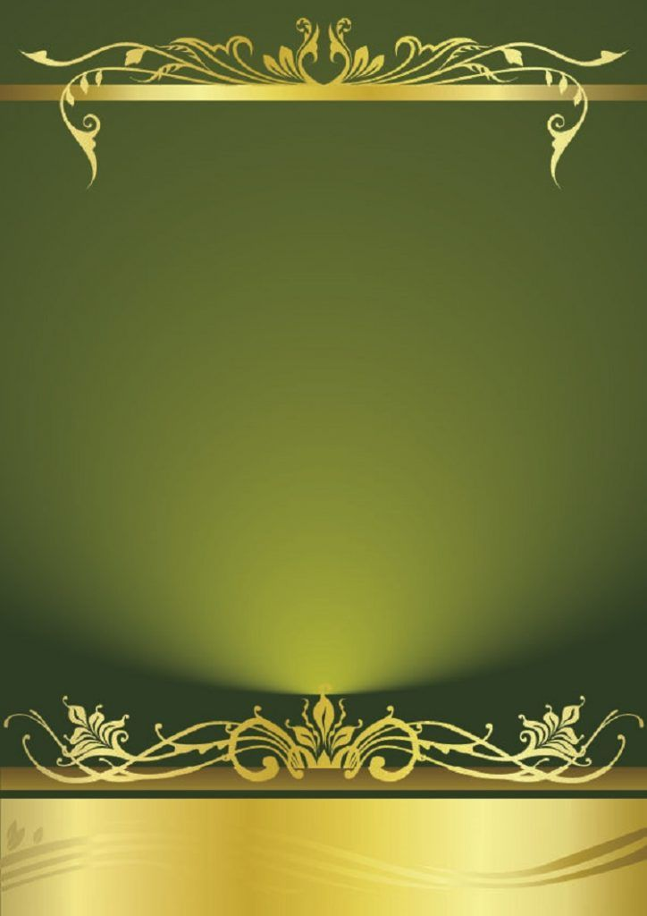 Green Birthday Invitation Card Layout Contoh Undangan Pernikahan