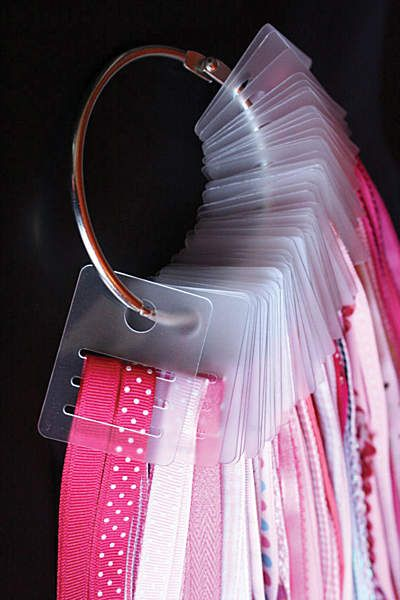 one idea for ribbon storage