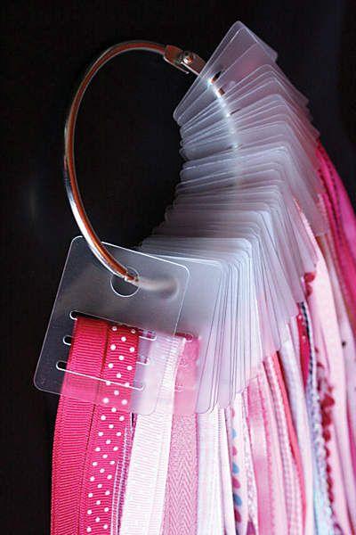 one idea for ribbon storage