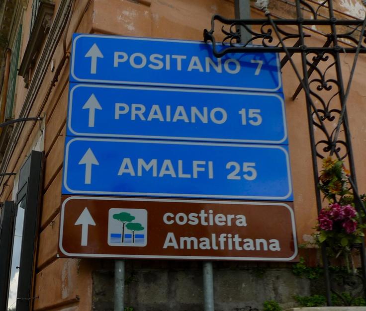 """OK, now I know how to get to """"costiera Amalfitana"""""""