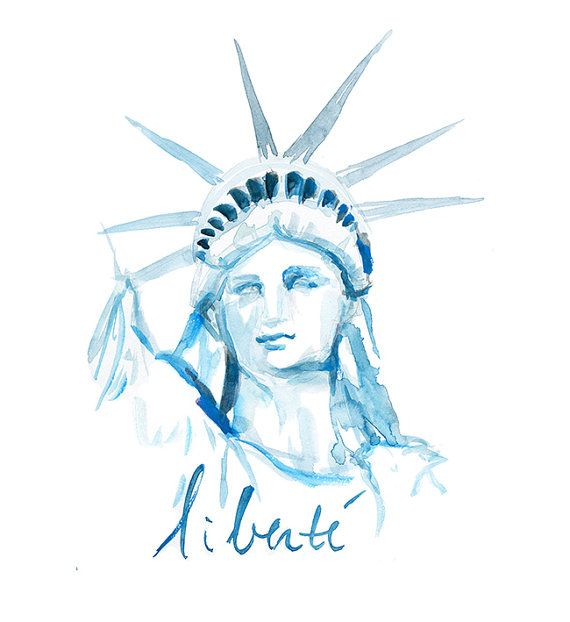 Hey, I found this really awesome Etsy listing at https://www.etsy.com/listing/190887022/statue-of-liberty-watercolor-painting