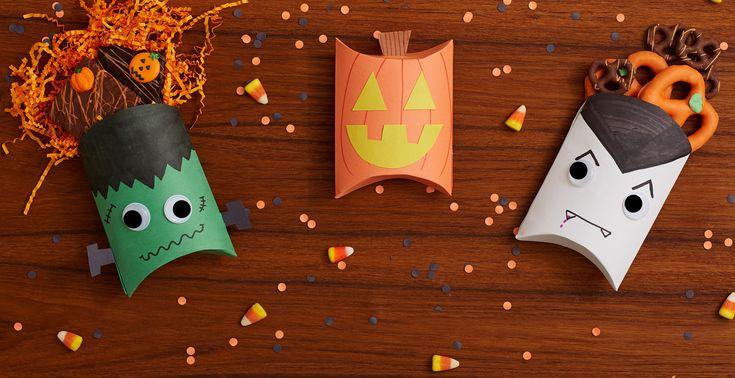 Un DIY Halloween pour apprendre à fabriquer simplement une boite surprise ou une boite à bonbons. Une activité à réaliser avec vos enfants !