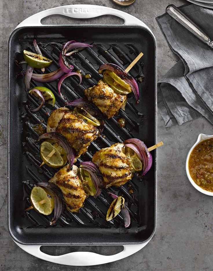 how to cook chicken thighs in a grill pan
