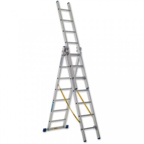 Zarges Trade 3-Part Skymaster Ladder - Ladders - Ladders & Platforms - Site & Outdoors | Axminster.co.uk