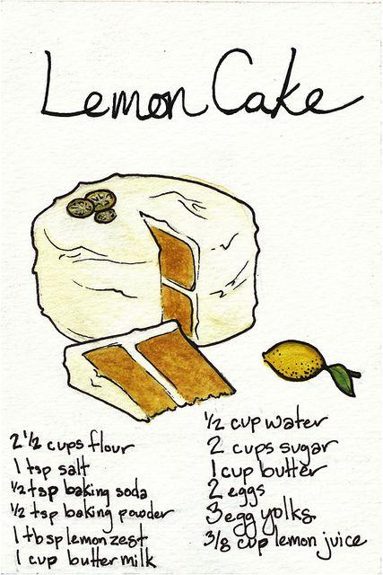 Love this illustration: Lemon Cake | Flickr - Photo Sharing!