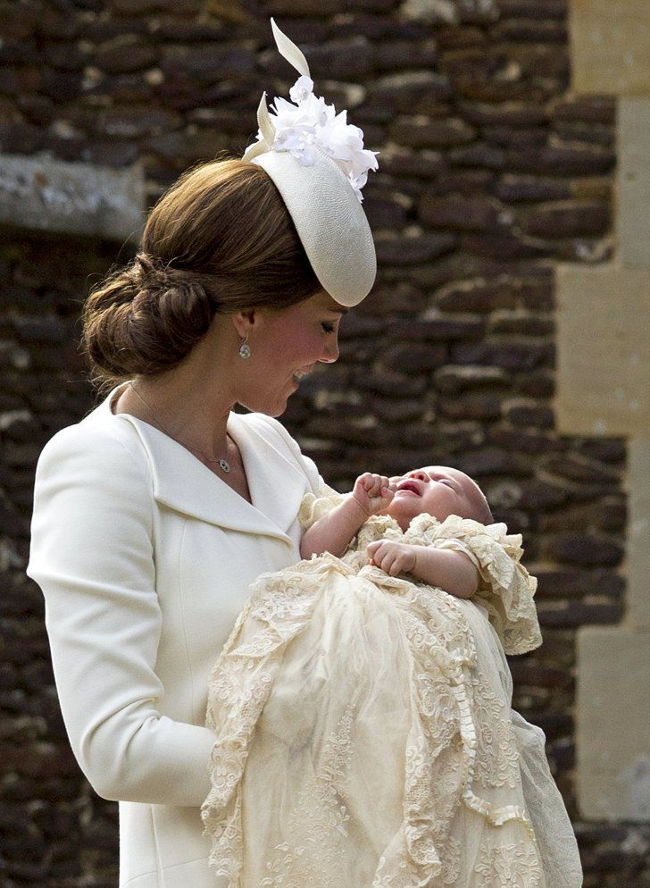 Pin for Later: Compare Prince George's and Princess Charlotte's Christenings Side by Side! Princess Charlotte
