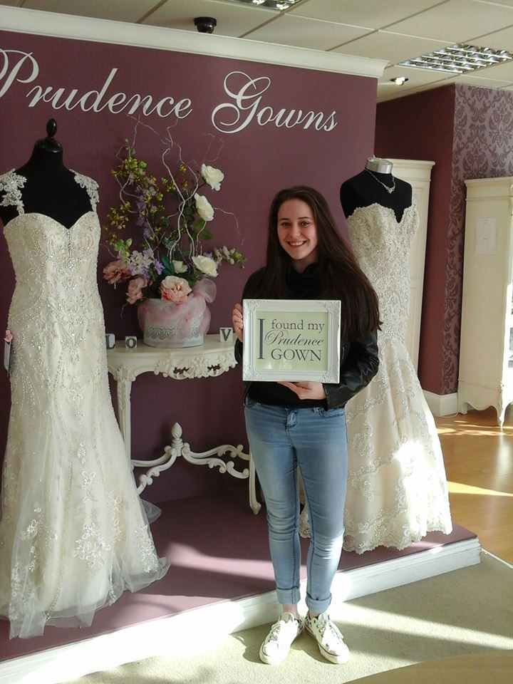 Olivia found her #promdress for her #prom in our #Plymouth store today. YAY! #DressingYourDreams #PrudenceGowns