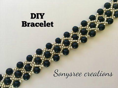 Gorgeous Beaded Bracelet ( One Needle Method) - YouTube