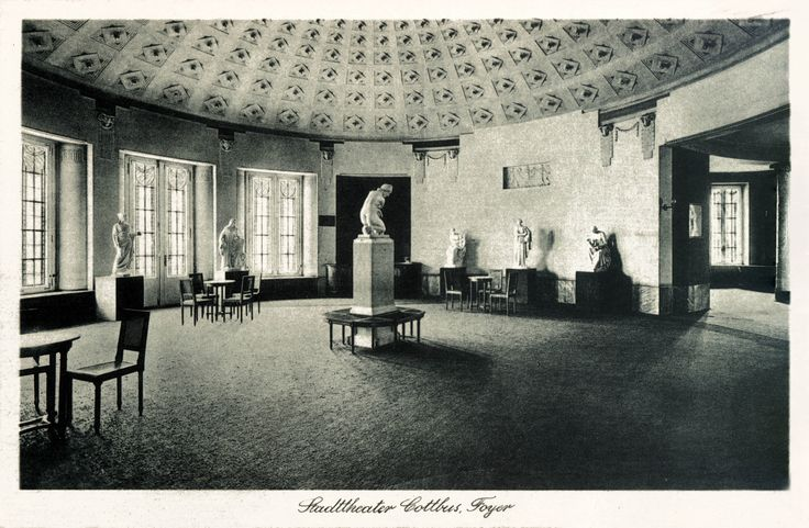 Foyer Stadttheater Cottbus (ca. 1940) - nunmehr Staatstheater Cottbus