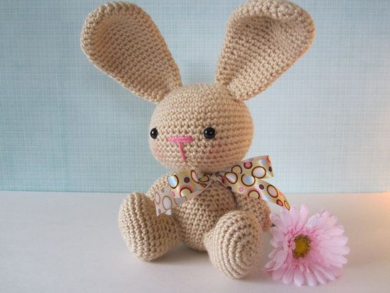 Crochet Patterns Rabbit : ... Animal Crochet, Crochet Bunny Pattern, Crochet Bunnies, Stuffed Animal
