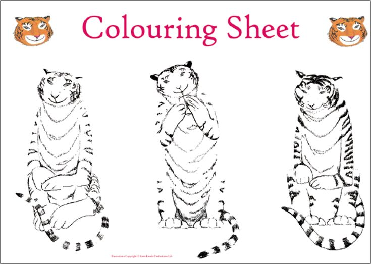 The Tiger Who Came To Tea - tea party printouts