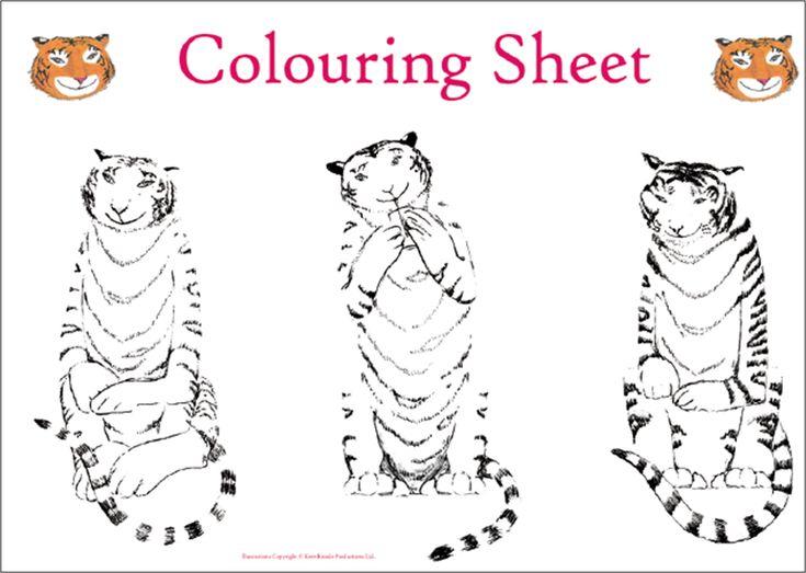 The Tiger Who Came To Tea - tea party printouts