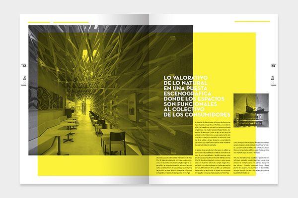Vuelco - Architecture Magazine by Bando, via Behance