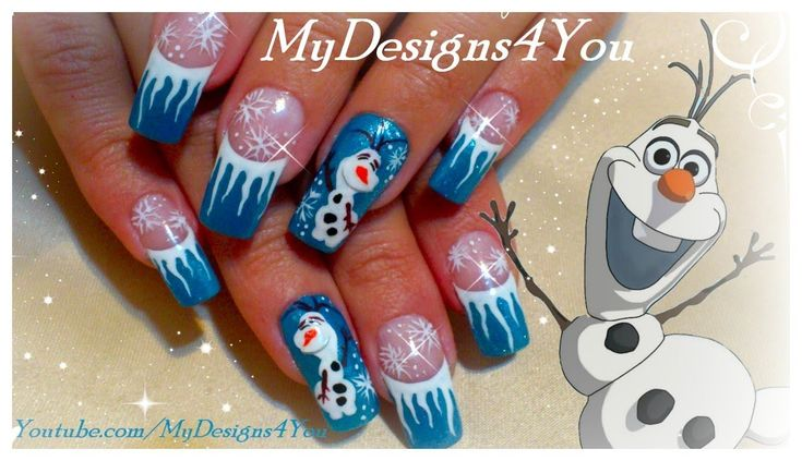 HOW TO PAINT OLAF the SNOWMAN FROM DISNEY FROZEN, TUTORIAL ♥ MyDesigns4Y...