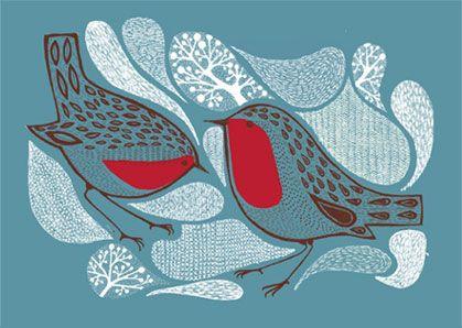 Love this red robin illustration by alice stevenson