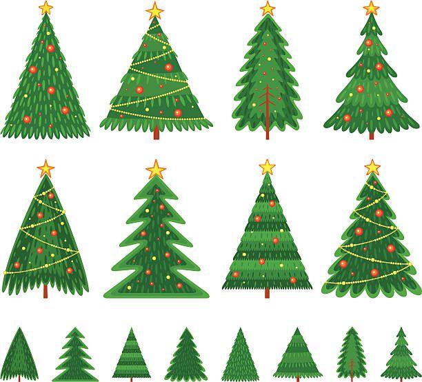 크리스마스 트리 벡터 아트 일러스트 크리스마스 트리 크리스마스 카드 크리스마스 아이콘