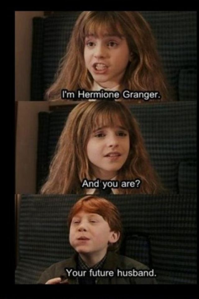 Harry potter funny meme about ron weasley and hermione - Ron weasley and hermione granger kids ...