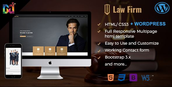 You personal or professional law firm website template with HTML5. You can use it for any other category also http://bit.ly/2pwQaHT