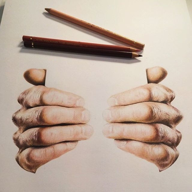 """517 Likes, 11 Comments - Colored Pencil Art Gallery (@coloredpencil_art) on Instagram: """"While some struggle with drawing hair most agree that hands are one of the most difficult part of…"""""""