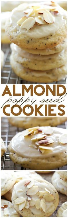 Almond Poppy Seed Cookies... These are light and chewy and have an incredible flavor!