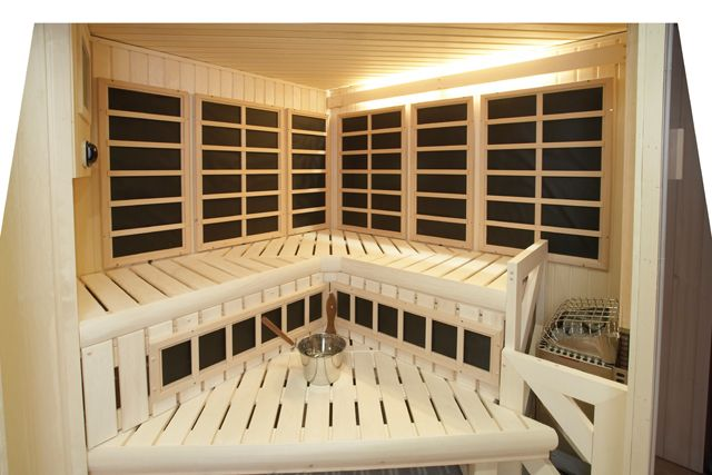 Combination traditional and infrared sauna for maximum detox and relaxation. #sauna #infrared #diamondfitness #health #finnish #relax #detox #luxury #saunas