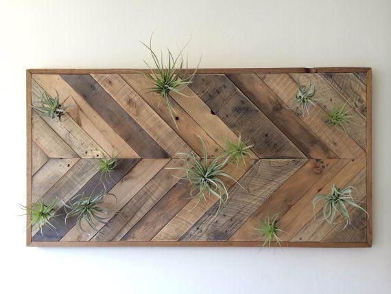 Reclaimed Barn wood Chevron arrow herringbone Wall art, coffee table, dining table, wall panel. air plant art. modern, minimalist.