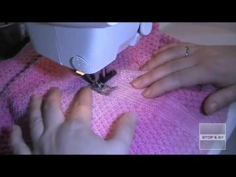 Klippemasker i strikketøj, sy dem med symaskine