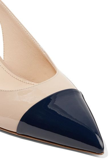 2db4d444b Prada - 65 two-tone patent-leather slingback pumps in 2019 | Shoes ...