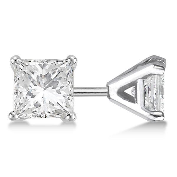 PARIKHS Princess Cut Diamond Set Popular Quality-Screw Back White /& Yellow Gold