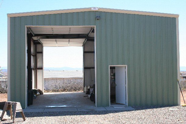 Prefab Residential Garages : Metal building sheds kits residential steel