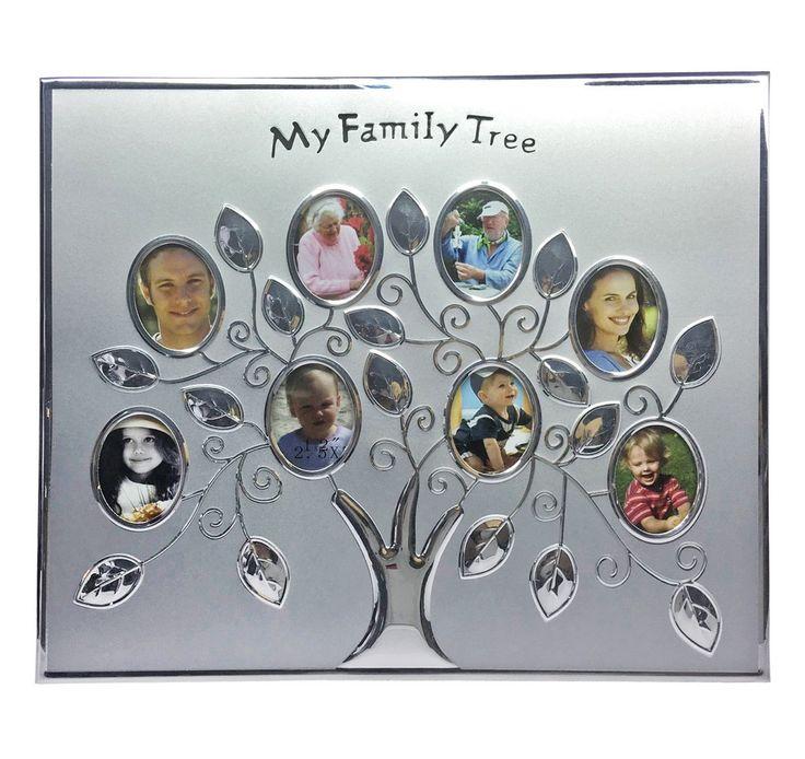 Мультирамка  «Семейное дерево», аллюминий, на 8 фото 2.5 х 5 см