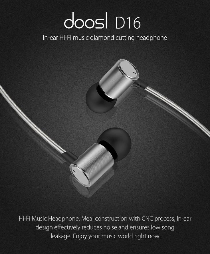 Doosl Hi-Fi Earphones Stereo Wired Music Earphone Noise Isolating Earbuds Sport Earphone for Phones Tablet Laptop Etc.