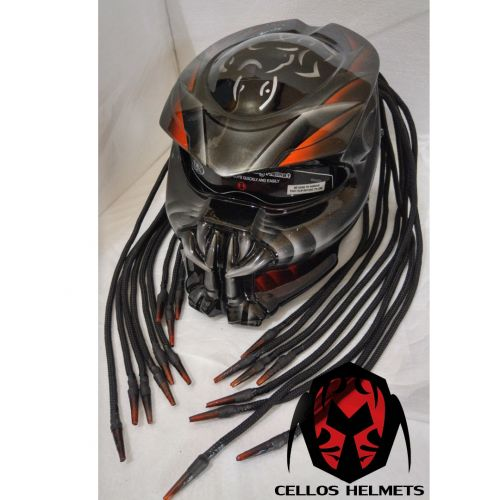 THE ALIEN PREDATOR HELMET MOTORCYCLE STYLE DOT APPROVED | PanjiHelmet -  on ArtFire