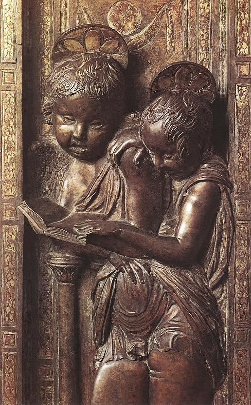 Donatello |  Musician Angels 1447-1450. Size: 58x21 cm (bronze). Basilica of Saint Anthony. Padova, Italy