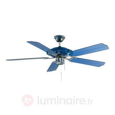 Ventilateur de plafond LED Blue Angel bleu, référence 2513050 - Ventilateurs de plafond ou à poser chez Luminaire.fr !
