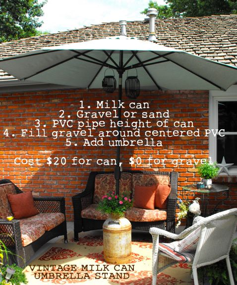 Different Dog - A Simply Beautiful Life: Homemade Outdoor Umbrella Stand/Base
