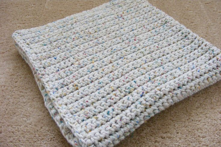 loom knitted afghan squares | Single Crochet Baby Blanket | GretchKal's Yarny Adventures