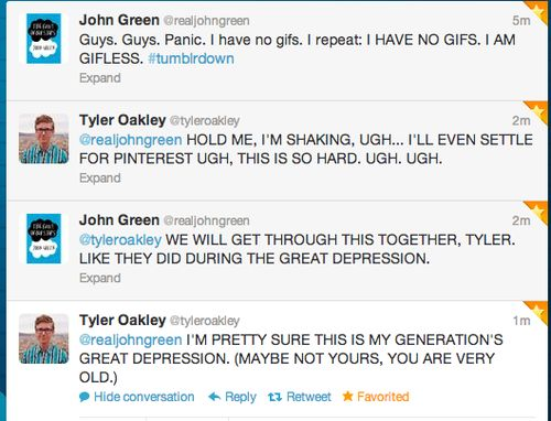 oh my gosh I think this conv. might be the best thing ever.>>>> XD oh god Tyler (MAYBE NOT YOURS YOU ARE VERY OLD) xD