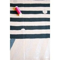 Line - Charcoal -  Echino Cotton Linen by Etsuko Furuya