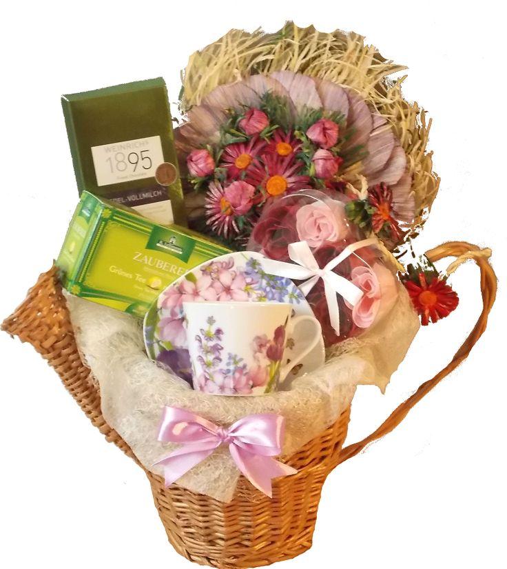 Cos cadou Lila Flowers www.venellagift.ro