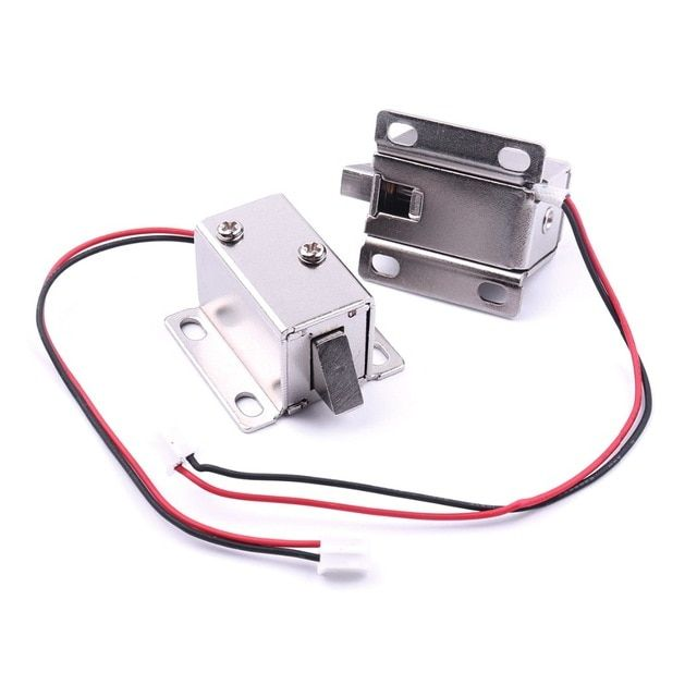 2pcs Dc 12v Top Grade Mini Solenoid Electromagnetic Electric Control Door Locks With 2 Wires Cabinet Drawer Locka 27x29 Electric Lock Door Locks Control System
