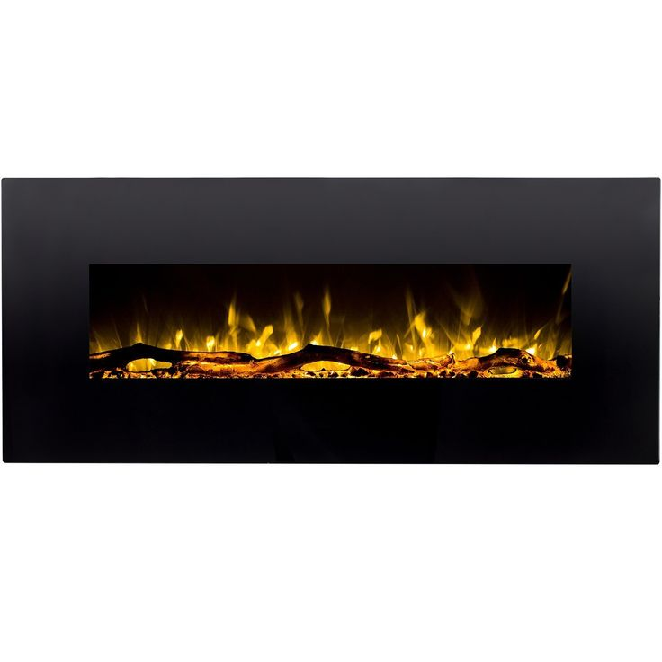 """Regal Flame Denali Black 60 Log, Pebble, Crystal, 3 Color Heater Electric Wall Mounted Fireplace Better than Wood Fireplaces, Gas Logs, Fireplace Inserts, Gas Fireplaces, Space Heaters, Propane """""""