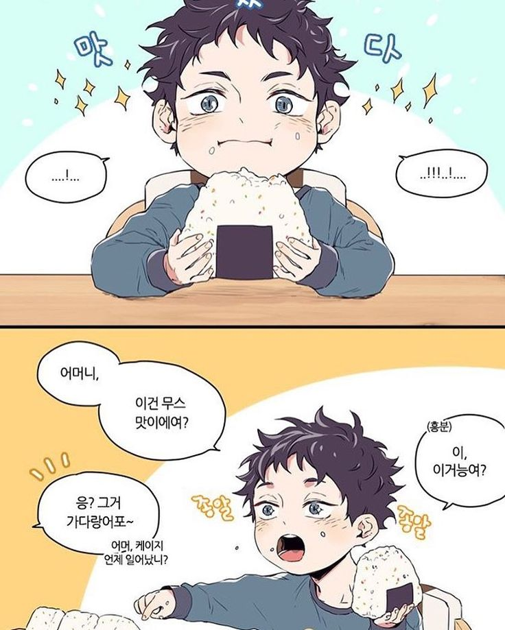 EAT AS MUCH ONIGIRI AS YOU WANT MY SON!!!! *immediately runs downstairs and starts making onigiri* - Credit to neamvi on Twitter -