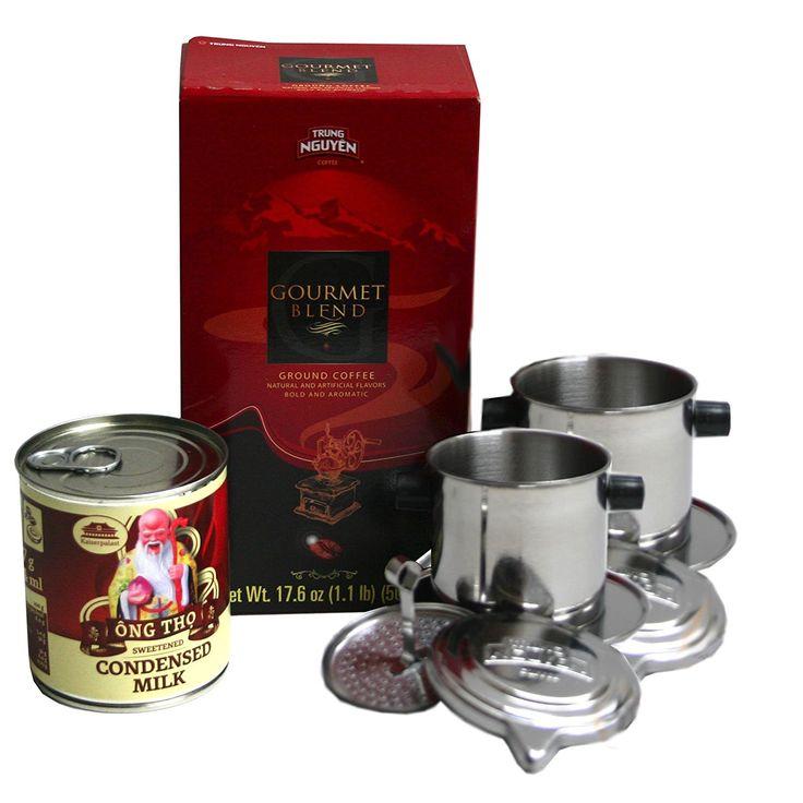 Trung Nguyen Vietnam Kaffee Set! Gourmet Mischung+2 Kaffeesiebe+1 Kondensmilch gratis: Amazon.de: Lebensmittel & Getränke