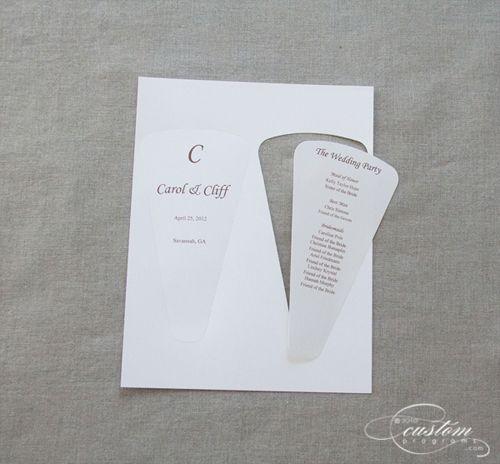 Best 25 fan wedding programs ideas on pinterest diy wedding cherish paperie diy wedding invitations diy fan wedding programs envelopments pocket solutioingenieria Choice Image
