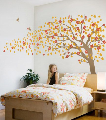 Tree Wall Decals Cherry Blossom Tree Decal di SimpleShapes